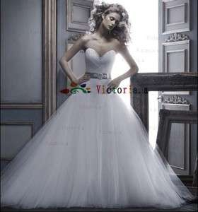 Sweetheart Beaded Wedding Dresses/Gowns Size4 6 8 10 12 14 16+