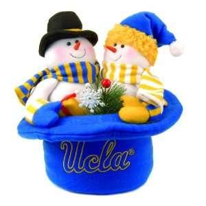 12 NCAA UCLA Bruins Snowmen Top Hat Table Christmas