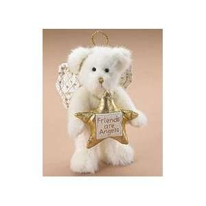 Friends Are Angels Gold Star Plush Bear Ornament #562711 Retired: Home