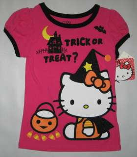 NWT Girls Hello Kitty Halloween T Shirt Top Sz 4 5 6