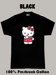 Hello Kitty Glitter Anime kitty cat t shirt
