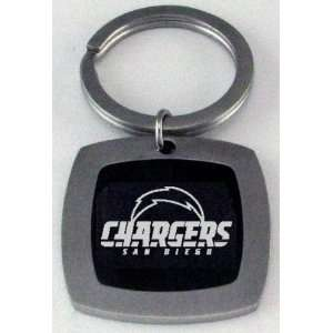 San Diego Chargers Black Accent Key Ring Sports