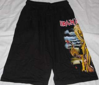 Iron Maiden Killers Black Board Shorts  Free Size NEW