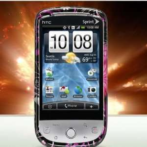 Pink Butterflies Flowers Design Case for HTC SPRINT HERO CDMA [WCP291