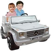 12 Volt Mercedes Benz G55 Silver 2 Seater Ride On   Kidz Motorz