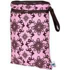 Planet Wise Wet/Dry Diaper Bag   Pink Swirl