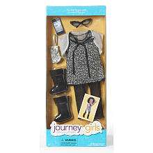 Journey Girls Doll 18 inch Fashion Outfit   Black Animal Print Top