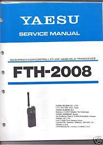 NEW Yaesu FTH 2008 Transceiver Service Manual English