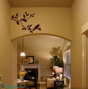 Bird On Branch Vinyl Wall Art Decals Stickers 902