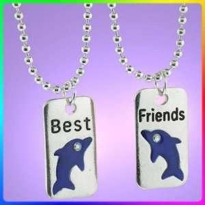 Best Friends. 2 piece Heart Silver Tone Charm Two 20steel