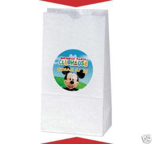 MICKEY MOUSE CLUBHOUSE Birthday TREAT BAG STICKERS