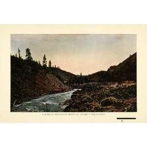 1907 Print Washington Mount St Helens Volcano Landscape