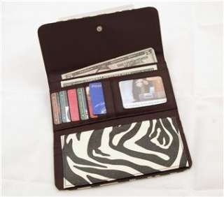 with Removable Checkbook Clutch Purse Card Holder Organizer
