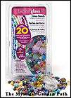 VALUE PACK CANE GLASS MULTI COLORED BEAD MIX