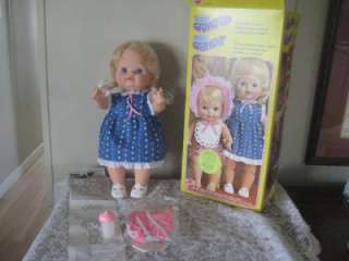 VINTAGE 1970S MATTEL BABY GROWS UP DOLL