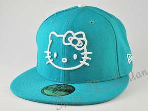HELLO KITTY NEW ERA TEAL WHITE 59FIFTY Fitted CAP HAT