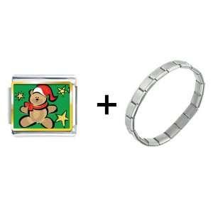 Christmas Teddy Bear Italian Charm Pugster Jewelry
