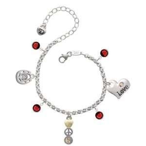 Yang Love & Luck Charm Bracelet with Siam Swarovski Crystals Jewelry