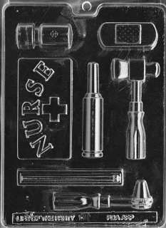 Jobs NURSE KIT Chocolate Candy Mold Soap Largest 4 1/2 x 2 3/8 x 1/2