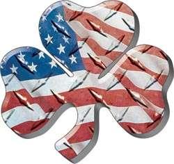 Irish Shamrock American Flag Decal Sticker Graphic FF78