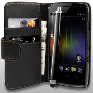 Wallet Leather Case For Samsung Galaxy Nexus i9250 + Stylus