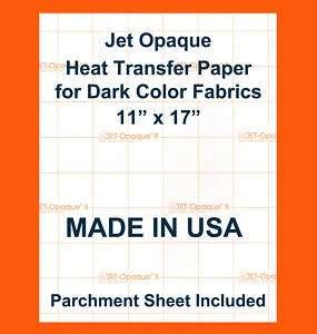 Neenah Jet Opaque II Dark Iron Transfer Paper 11x17 50