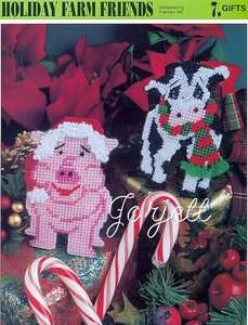 Holiday Farm Friends, Annies plastic canvas patterns