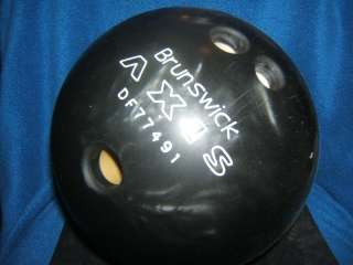 BLACK PEARL MARBLE SWIRL 16 POUND BOWLING BALL W@W RARE COLOR