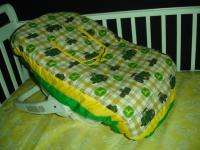 Baby Nursery Crib Bedding Set made w/John Deere beige plaid fabric NEW