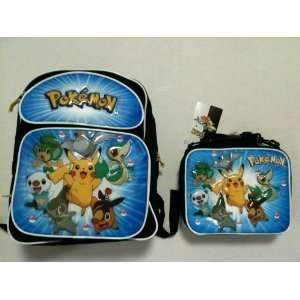 Pokemon Pikachu Medium Backpack + Lunch Bag SET   BLUE
