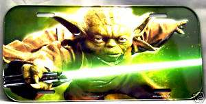 Star Wars   Yoda License Plate Car Tag