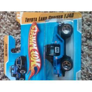 2011 Hot Wheels Toyota Land Cruiser FJ40 Blue SHORT CARD