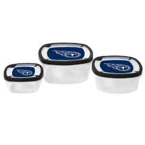 Tennessee Titans Plastic Food Storage Container 3pc Set NO