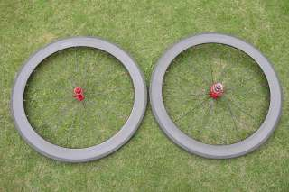 60mm clincher carbon fiber wheelset for road bike Powerway hub