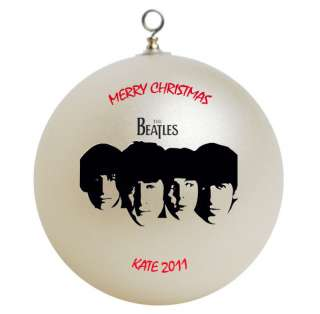 Personalized The Beatles Christmas Ornament Add Name