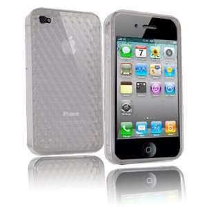 Tech Transparent Diamond Etched Desing Gel Case/ Skin for Apple iPhone