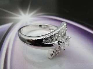 925 Sterling Silver Flower Fashion Finger Ring JR58