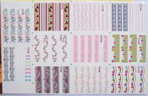 220x Nail Art Temporary Tattoos Stickers new b032