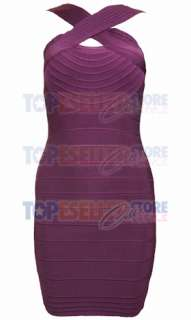 KATY PERRY PURPLE CROSS HALTER BANDAGE DRESS SZ S M L CELEBRITY