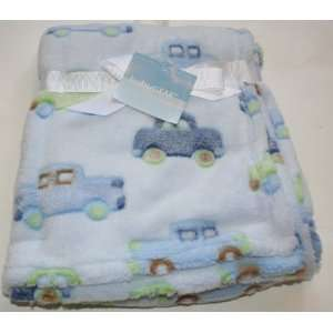 Cutie Pie Baby Blanket Green and Blue Cars Baby