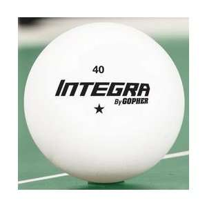 Gopher Integra 1 Star Table Tennis Balls Sports