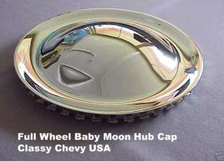 15  Full Wheel baby moon rat rod hub caps set of 4 NEW