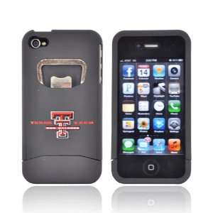 For Apple iPhone 4S 4 Texas Tech Red Raiders Black Hard