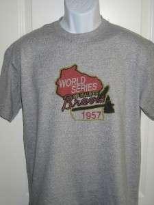 Milwaukee BRAVES 1957 World Series Logo T Shirt XXL