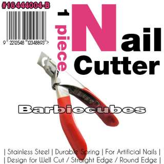 Stainless Steel Artificial Acrylic False Nail Tips Edge Cutter Clipper