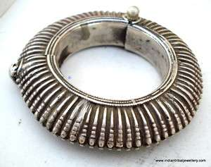 vintage antique tribal old silver bracelet bangle rare