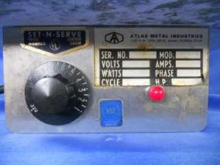 ATLAS METAL SET N SERVE SINGLE HEATED DROP IN STEAM WELL RESTAURANT