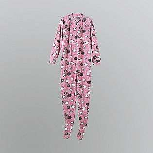 Womens Fleece Footie Pajamas   Sheep  Joe Boxer Clothing Intimates