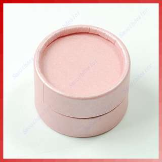 Pcs Small Round Jewellery Gift Package Ring Hard Boxes Case Pink