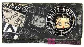 Licensed BETTY BOOP PATCHWORK BELTED HOBO PURSE BAG HANDBAG WALLET SET